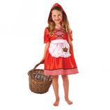 Rotkäppchen Kostüm Red Riding Hood Kindergröße ca. 6-8 Jahre