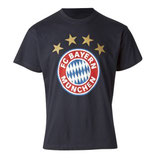 FC Bayern T-Shirt Logo Farbe navy Gr. 128