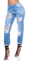 Mom Fit Used Look Jeans