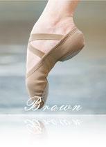 Ballerina Stoff geteilte Sohle