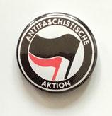 Antifaschistische Aktion Black Flag - Button