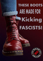 These Boots Are Made For Kicking Fascists - Aufkleber [20 Stück]
