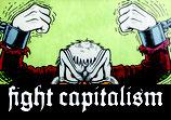 Fight Capitalism - Aufkleber [20 Stück]