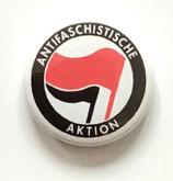 Antifaschistische Aktion Red Flag - Button