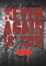 Never Again Is Now - Aufkleber [20 Stück]