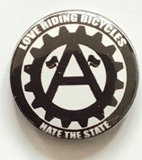 Love Riding Bicycles Hate The State - Button