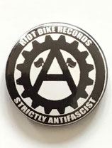 Riot Bike Records / Strictly Antifascist - Button