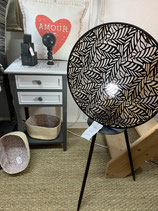 Lampe Sema sur pied noire et transparence VENDUE