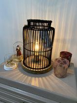 Jolie lampe SEMA osier noir