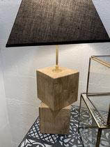 jolie lampe en chêne réalisation unique samedi le relooking by Pat   VENDUE
