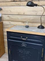 confiturier /bar bleu profond et faux bois