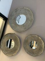 Trio de miroirs ronds metal possibilité de vente séparée VENDUS
