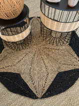 Joli tapis coco jardin d'Ulysse noir et nature