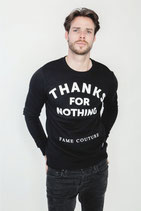 Fame Couture Sweater Thanks For Nothing Black