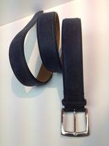 Leder Gürtel von Fausto Colato Art.400 KUDU / BLUE