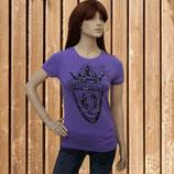 Queen´s Club Damen Shirt, Jersey T-Shirt mit Strass