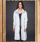 Mountain Horse Rain Coat MINDY, Reflektierender Regenmantel, weiß gestreift