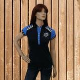 Euro Star Damen Shirt Alessandra, Kurzarm T-Shirt, Poloshirt mit Strass