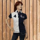 Equi Théme Shirt, Kurzarm T-shirt, Poloshirt, navy-weiß
