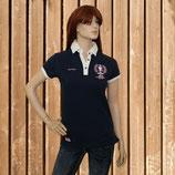Equi Théme Damen Shirt, Kurzarm T-shirt, Equi Theme Poloshirt, navy