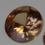 Zirkonia Champagner (helles peach) Rund 2 mm