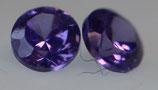 Zirkonia violet Rund 2 mm