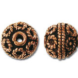 Kupfer Bali Bead 11 mm gross