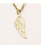 Hochwertige Halsketten Engelsflügel Gold