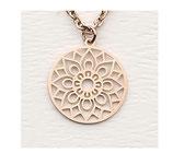 Hochwertige Halskette Mandala des Glücks Rosegold