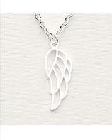 Hochwertige Halskette Engelsflügel Silber