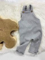 Latzhose Waffel grey