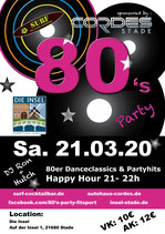 Eintrittskarten 80's Party
