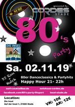 Eintrittskarten 80's Party
