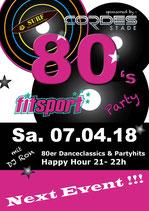 Karten 80's Party Fitsport