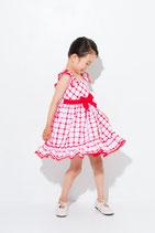Miranda フリルチェックドレス