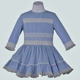 Miranda 女の子用ブルーフリルドレス/Girls Blue Dress