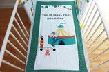 """Couverture bébé thème """"circus"""" - réservée à la liste de naissance de Titouan (Gabrielle et Manuel)"""