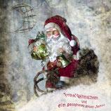 """Weihnachtskarte """"Nikolaus im Schnee"""""""