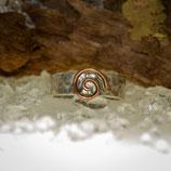 Bandring mit Kupferspirale