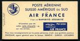 """Flugpost Etiketten """"Par avion"""" der Air France für die Strecke Schweiz - Südamerika über den Südatlantik 1940"""