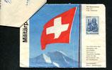1966 Bund Schweiz. Militärpatienten, Sammelumschlag mit Rückfrankatur und Notiz der Kreispostdirektion Bern