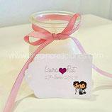 Tarjeta para los detalles rectangular (Modelo novias)