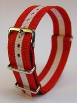 J.C.-Uhrenarmband Rot-Weiss