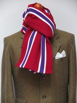 J.C.-Schal in Rot-Purple-Weiß