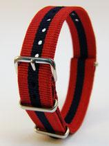 J.C.-Uhrenarmband Rot-Blau