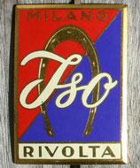 Emblem Iso Rivolta rot-blau / Badge Iso Rivolta red-blue