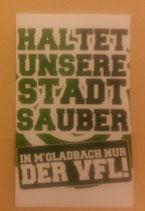 150 Mönchengladbach sauber halten Aufkleber