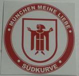150 München meine Liebe Aufkleber 6x6