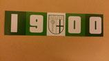 150 Gladbach 1900 länglich Neu Aufkleber