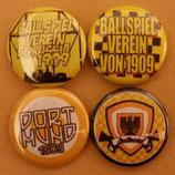 Dortmund 4er Buttonset Neu